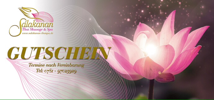 Spa wellness gutschein  Salakanan Thai Massage & Spa Offenburg | Ihre Wellness-Massage ...